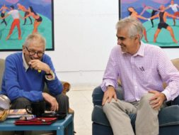 Hockney and Gayford, LA 2014 © photo Jean-Pierre Goncalves de Lima